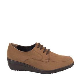 Zapato Confort Shosh 7003 Cof 825423 Antiderrapante Piel