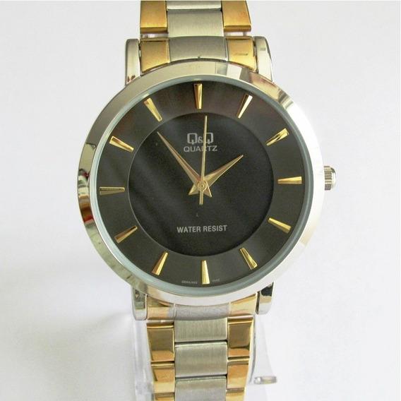 Relógio Q & Q Masculino Caixa E Pulseira Mista Q944j402y