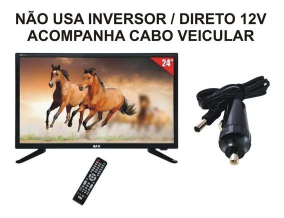 Tv 12 Volts Conversor 12v Digital 24 Pol Caminhao Carro Van