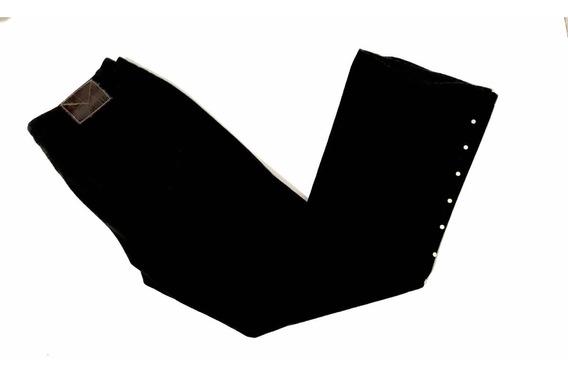 Jeans Michael Kors Dama Estoperoles Grabados Negro Algodón