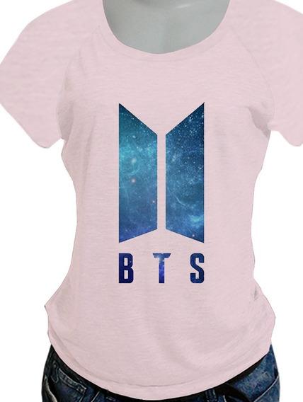 Camiseta Babylook Bts Galaxy Com 55 Opcoes De Costas (jungkook, Jimin, Suga, Todos Os Bias) Camisa Feminina Blusa C32