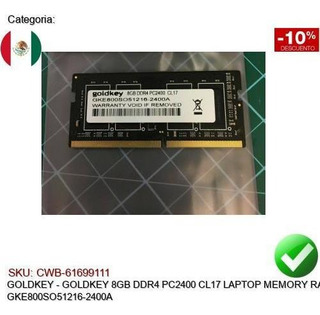 Goldkey 8gb Ddr4 Pc2400 Cl17 Ram Sodimm Gke800so51216-2400