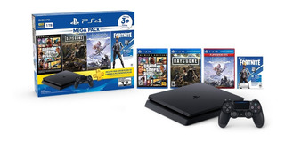 Consola Play Station 4 Mega Pack 4 Juegos +joystick Ps4 2057