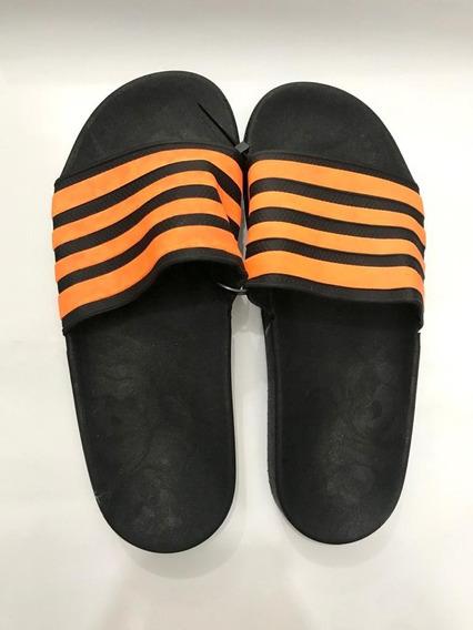 Sandalias Rayadas Ojotas Hombre Naranja Negro Chinelas