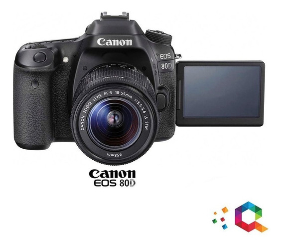 Canon 80d Kit Lente 18-55mm Is -24,2 Mpix-full Hd -lcd 3