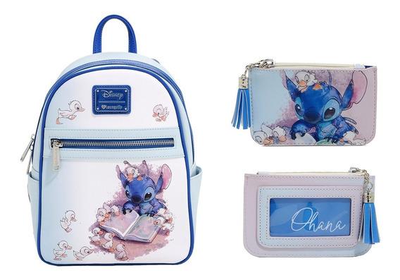Disney Loungefly Mini Mochila Stitch Mas Monedero En Stock