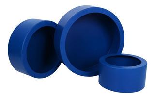 Kit Promoção Trio De Nicho Redondo Azul Marinho Postagem 24h