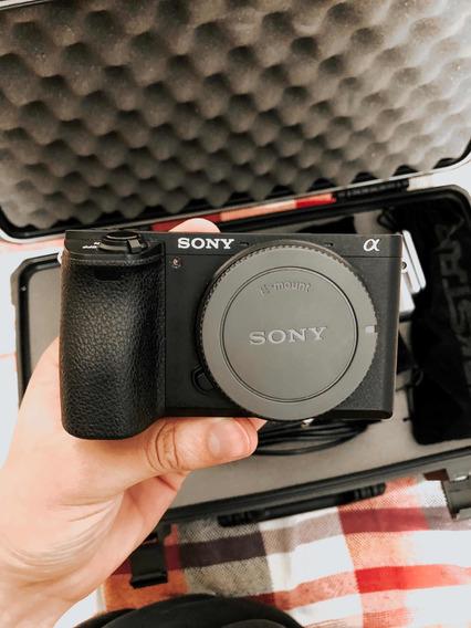 Câmera Sony A6500 + Adaptador Canon, 3 Baterias E Carregador