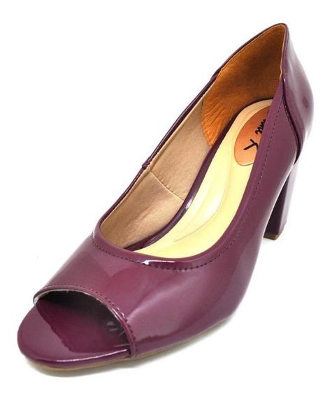 Sapatos Femininos Salto Peep Toe Feminino Marsala Dani K