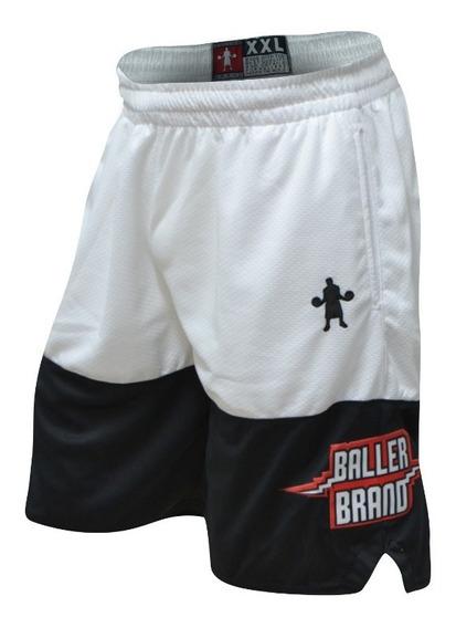 Short Baller Brand Fit Dub Blanco - Basquet Basketball