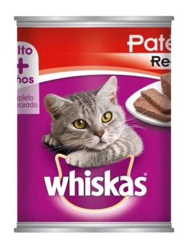 Imagen 1 de 2 de Alimento Para Gato Whiskas Pate Res Lata 350 G