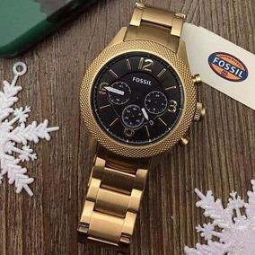 Relogio Fossil Machine Cronógrafo Dourado Masculino Bq2110