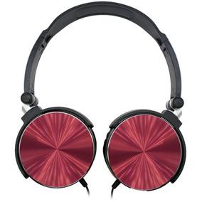 Fone De Ouvido Aiwa Aw X107r Com Fio Preto/vermelho