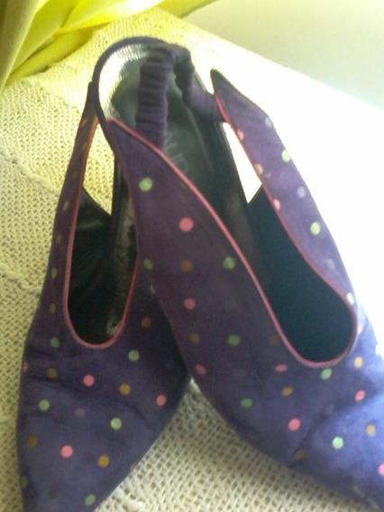 Maud Frizon Club, Calzadao Para Dama Color Violeta Vintage