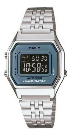 Relógio Casio Feminino Prata Digital - La680wa-2bdf