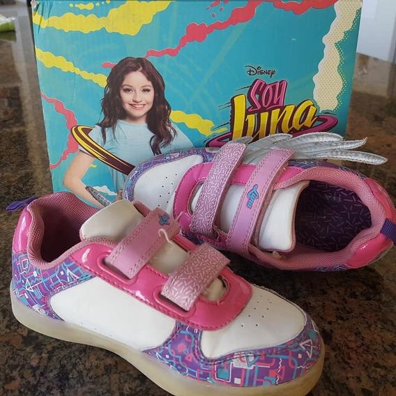 Zapatillas Soy Luna Alas Luz Led Urbanas Originales -usadas