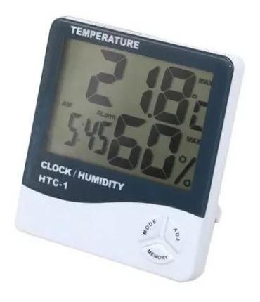 Termómetro Hidrómetro Reloj Alarma Despertador Digital Htc-1