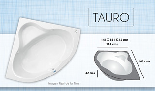 Tina Esquinera Tauro Sin Hidromase Bañera Con Envio Incluido