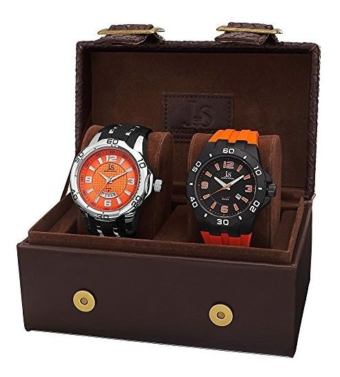 Reloj De Cuarzo Para Hombre Joshua Y Sons Con Caja De Regalo