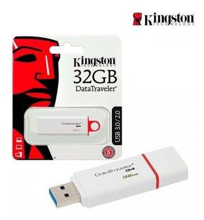 Memoria Usb Kingston 32 Gb 3.0 Metalica /roja Dt50 Original