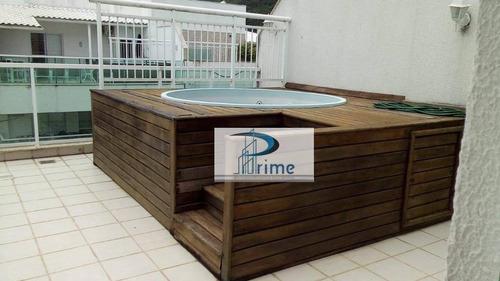 Cobertura Com 3 Dormitórios À Venda, 188 M² Por R$ 950.000,00 - Itaipu - Niterói/rj - Co0027