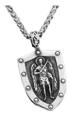 Collar Amuleto Arcangel St.michael Acero Inoxidable Hombre