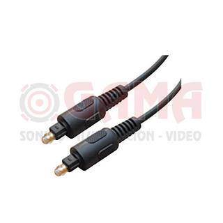 Cable Armado Fibra Optica 1 Plug Toslink A 1 Plug Toslink 2m