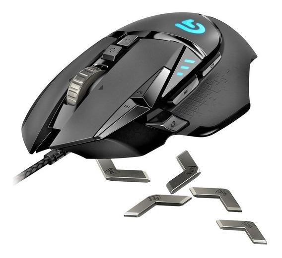 Mouse Ótico Gamer Logitech G502 Proteus Spectrum Rgb Preto