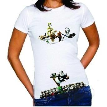 Camisa Camiseta Blusa Feminina Kung Fu Panda