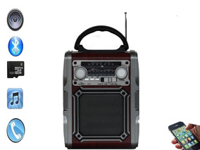 Radio Retro Am Fm Sw Com Bateria Bluetooth Usb D-f2