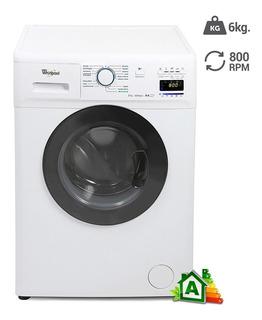Lavarropas Automatico Whirlpool Wnq66a 6kg C/ Frontal Blanco