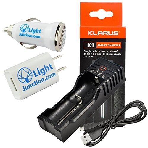 Imagen 1 de 7 de Klarus K1 Single Cell Cargador De Batería Inteligente Para