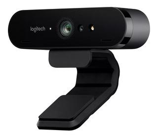 Webcam Logitech Brio 4k Gamer - Microfono - Fullhd