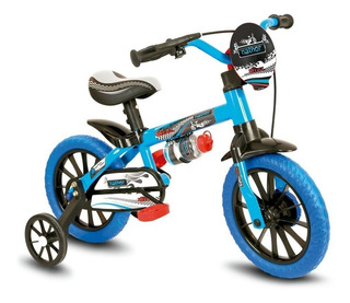 Bicicleta Infantil Aro 12 Veloz Menino Selim Em Pu- Nathor