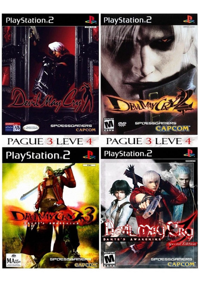 Devil May Cry Collection 1, 2, 3, 3 Special Edition P/ Ps2