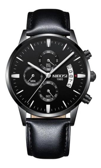 Relógio Masculino Original Nibosi Luxo A Prova D