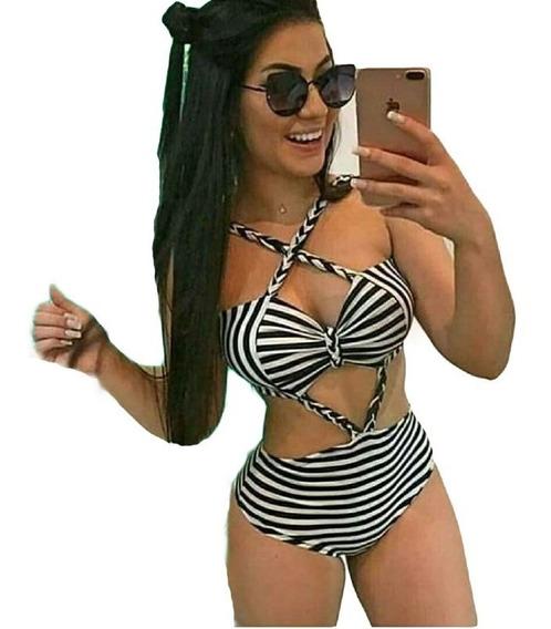 Body Bori Maio Listras Trançado Vazado Verao Praia Feminina