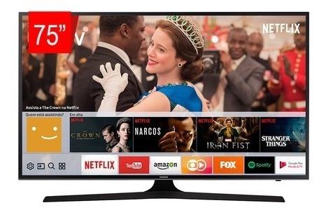 Tv Led Samsung 75 75mu6100 Uhd Smart, 4k, Wifi, Usb, Hdmi