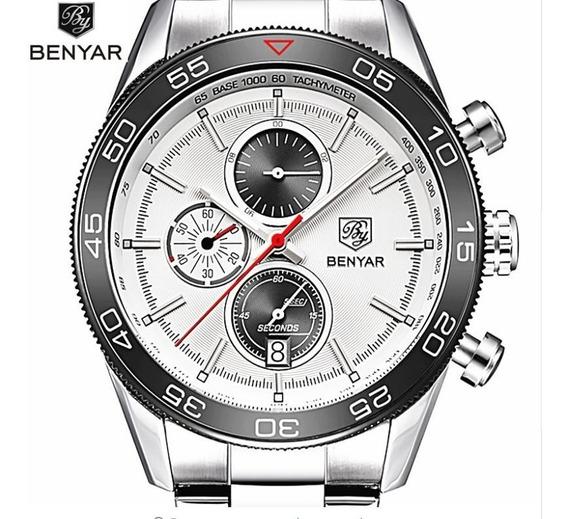 Relógio Benyar Militar Com Cronografo Funcional