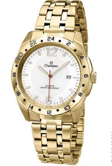 Relógio Champion Masculino Dourado Ca30196h