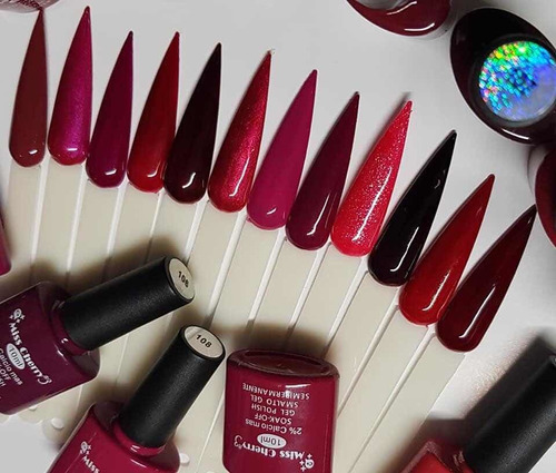 Imagen 1 de 4 de Gel Uv/led Miss Cherry Gama B2 10ml Gel Semipermanente C/12p