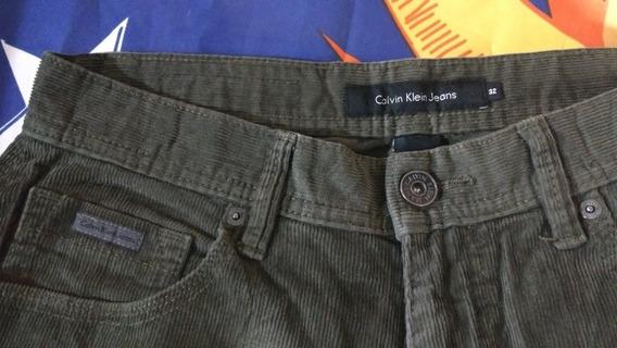 Pantalón De Pana De Caballero Marca Calvin Klein Jeans*t-32