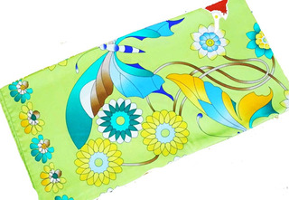 Lenço Seda Pura Farfalle In Fiore Verde -90x90-italy