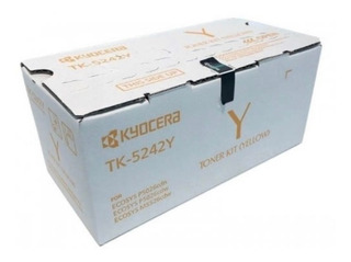 Cartucho De Toner Kyocera Tk-5242y Amarillo Para M5526cdw