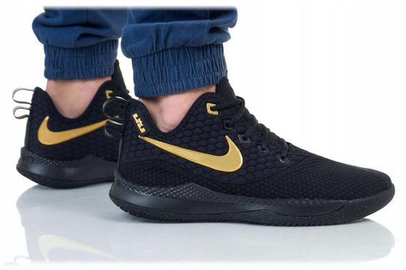 Tenis Nike Lebron Witness Iii Negro C/dorado#25 Al 29 Cm Msi