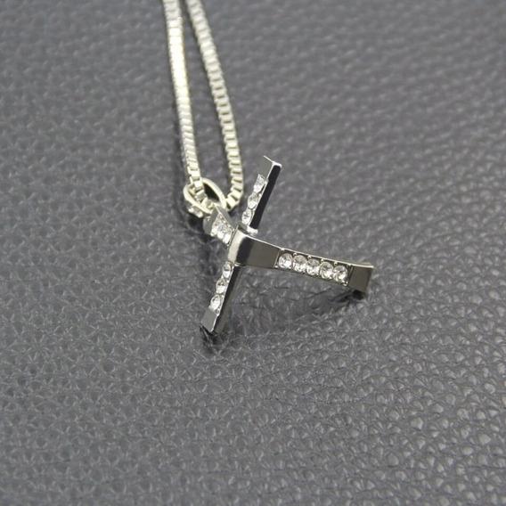 Corrente Cordão Colar Masculino Crucifixo Van Diesel Toretto