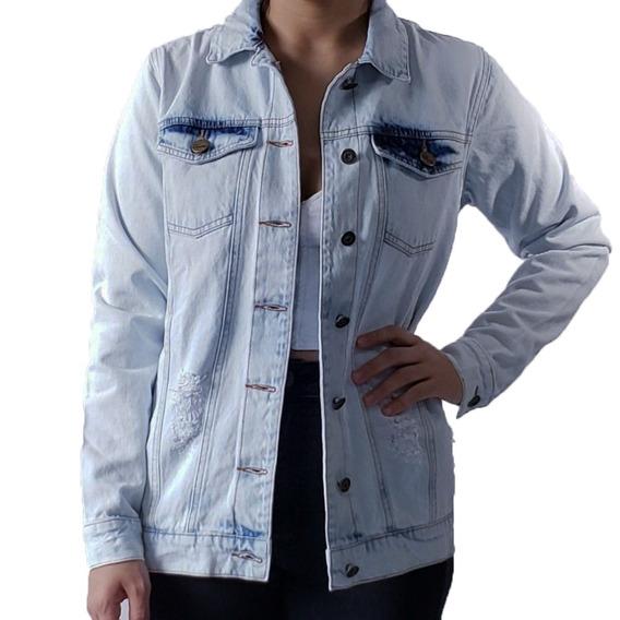 Jaqueta Oversized - Maxi Jaqueta Jeans Lady Rock