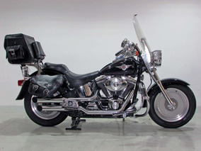 Harley-davidson Softail Fat Boy 2002 Preta