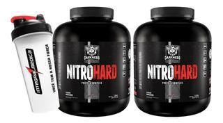 2x Whey Nitro Hard 1,8kg Darkness Integral + Coqueteleira