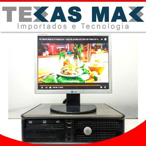 Imagem 1 de 6 de Cpu Usada Dell Core 2 Duo+ssd +monitor 15+mouse+teclado